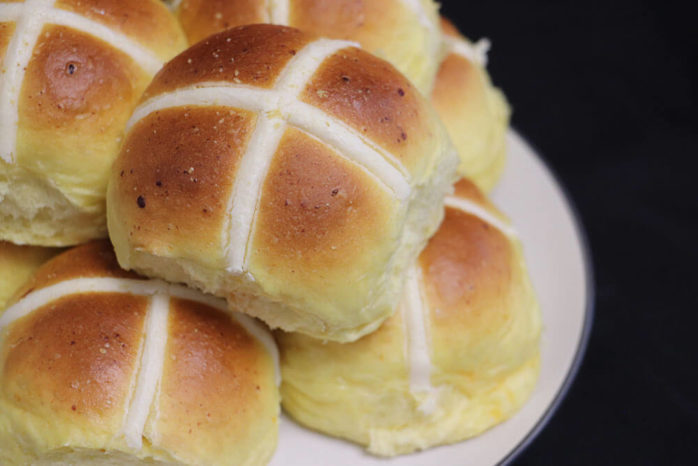 Cheese & Garlic Hot Cross Buns